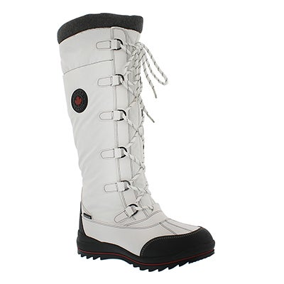 Cougar Women's CANUCK wht waterproof pull on winter boots