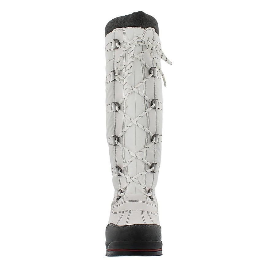 Lds Canuck wht wtprf pullon winter boot