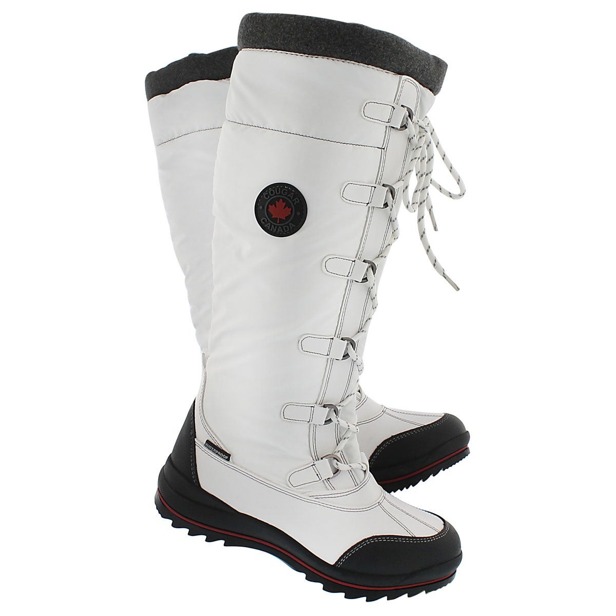 Lds Canuck wht wtprf pullon winter boot