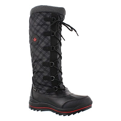 Cougar Women's CANUCK black plaid waterproof winter boots