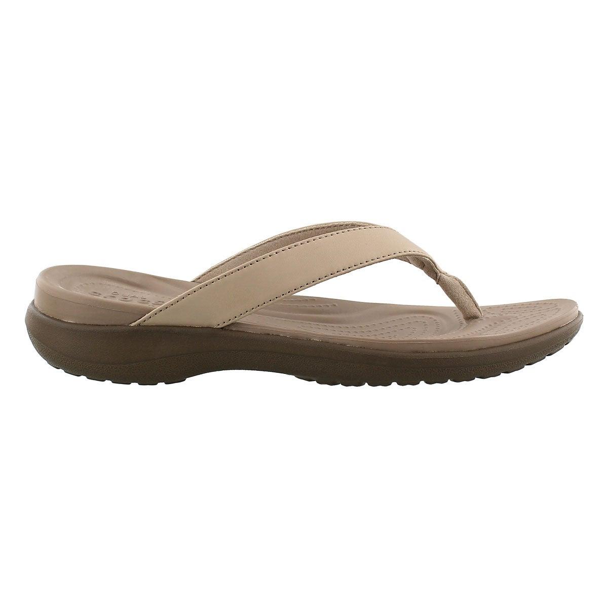 Lds Capri V Flip chia/walnt thong sandal
