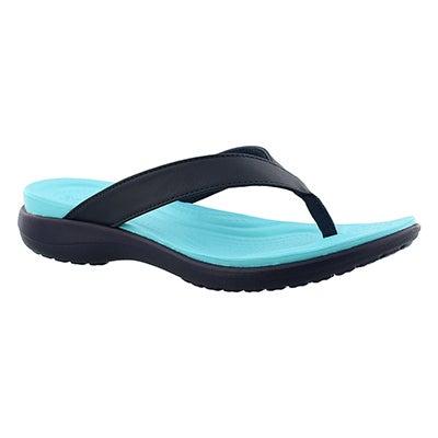 Crocs Sandales tongs CAPRI V FLIP, marine/bleu, femmes