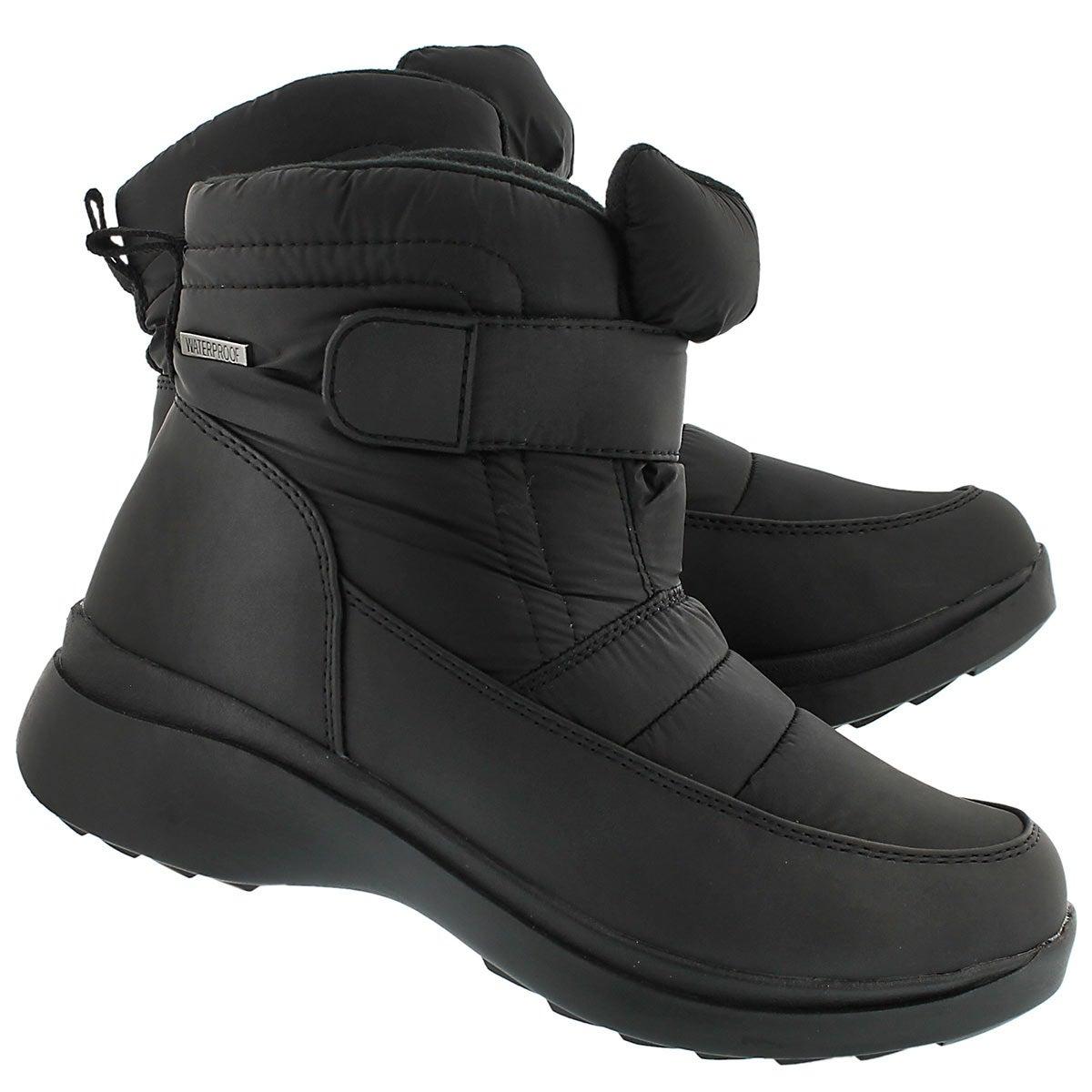 Lds Caprice black wtrpf lined boot