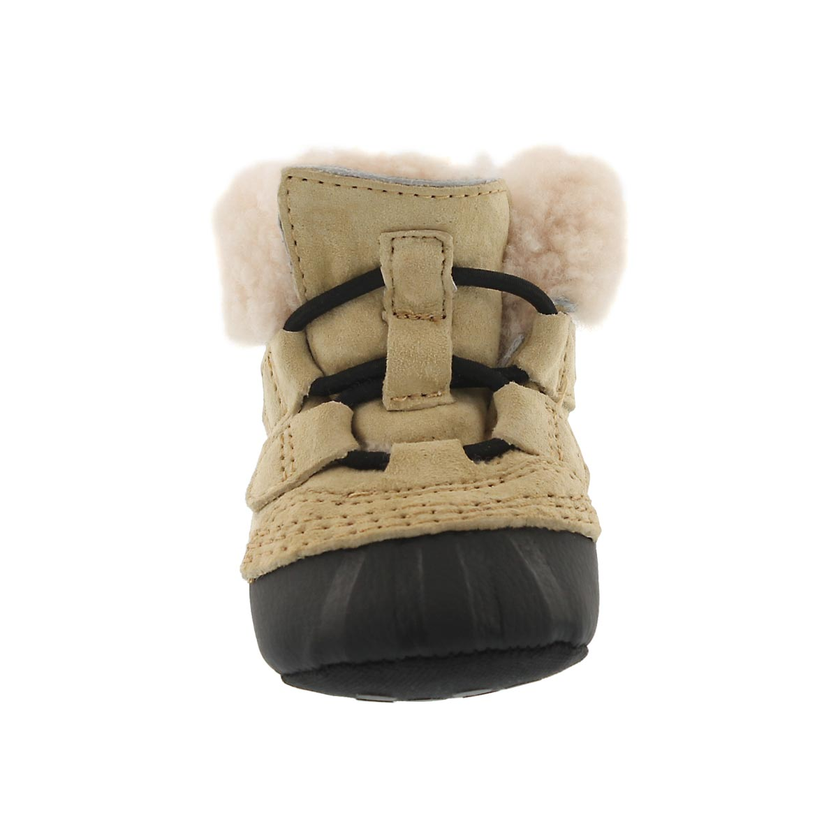 Inf Caribootie curry/black boot slipper