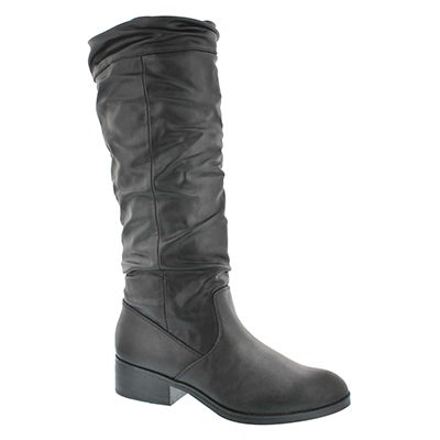 Lds Carla black wtpf tall dress boot