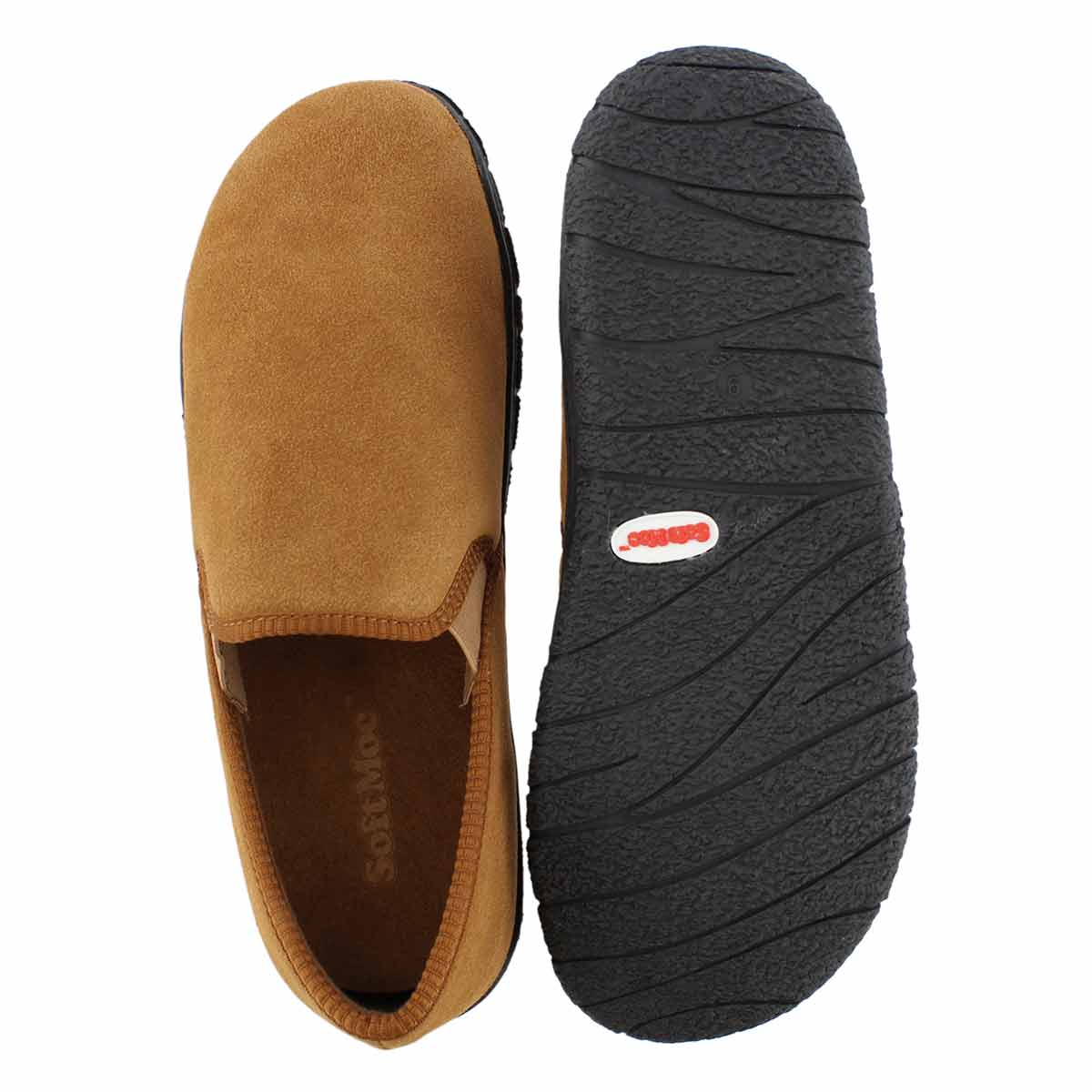 Mns Carlos brown closed back slipper
