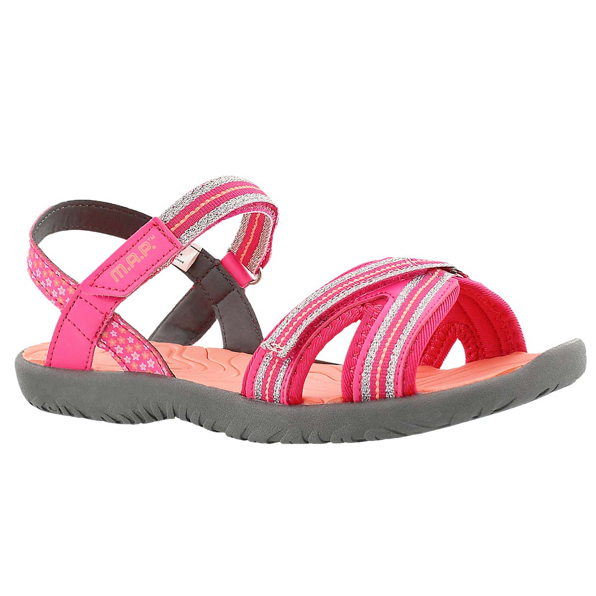 Girls' CARMI pink/coral casual sandals