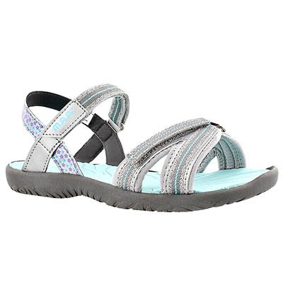 MAP Girls' CARMI silver/turq casual sandals