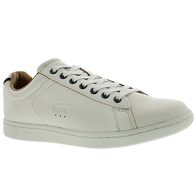 Lacoste Men's CARNABY EVO 3 white fashion sneakers