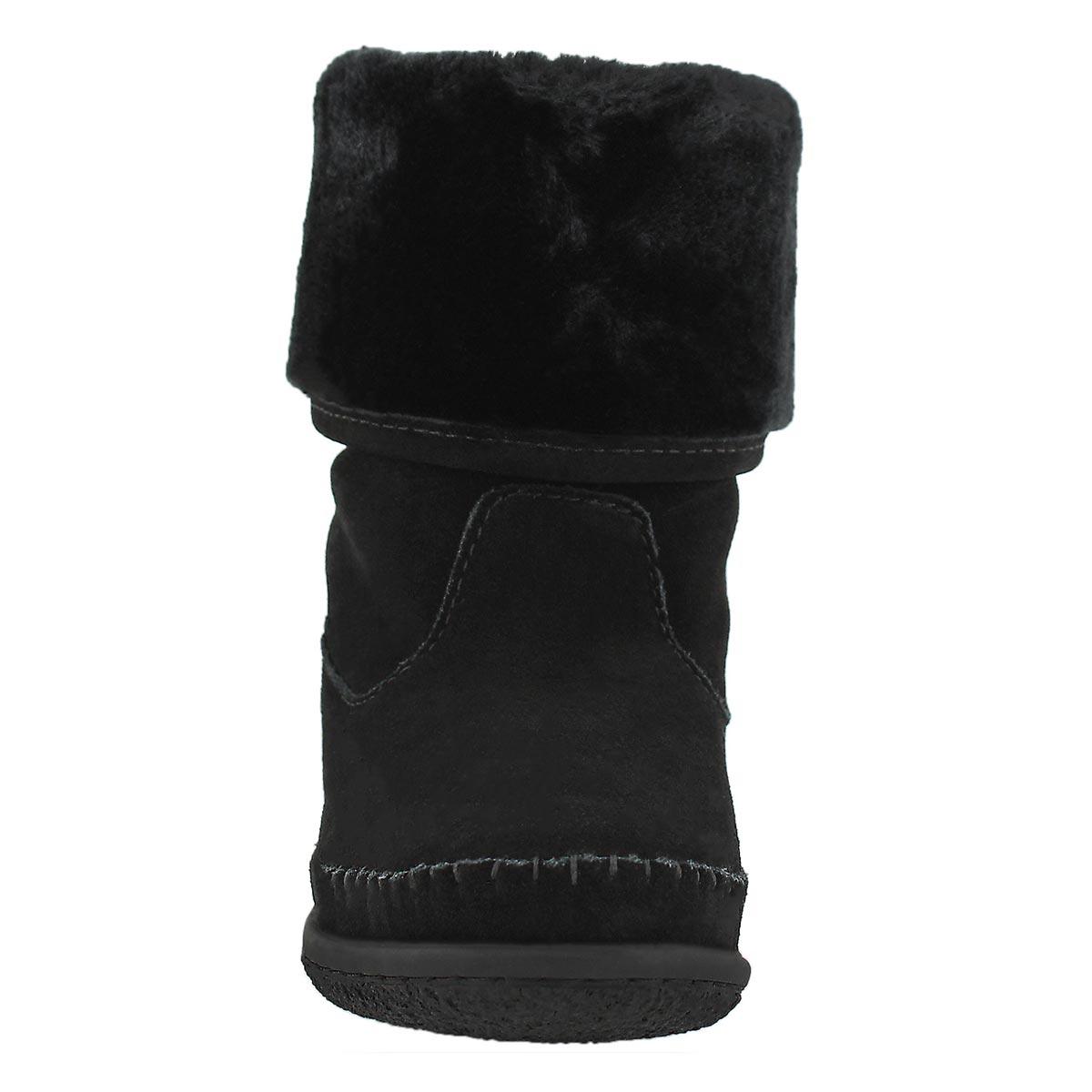 Lds Carolina black foldover mukluk boot