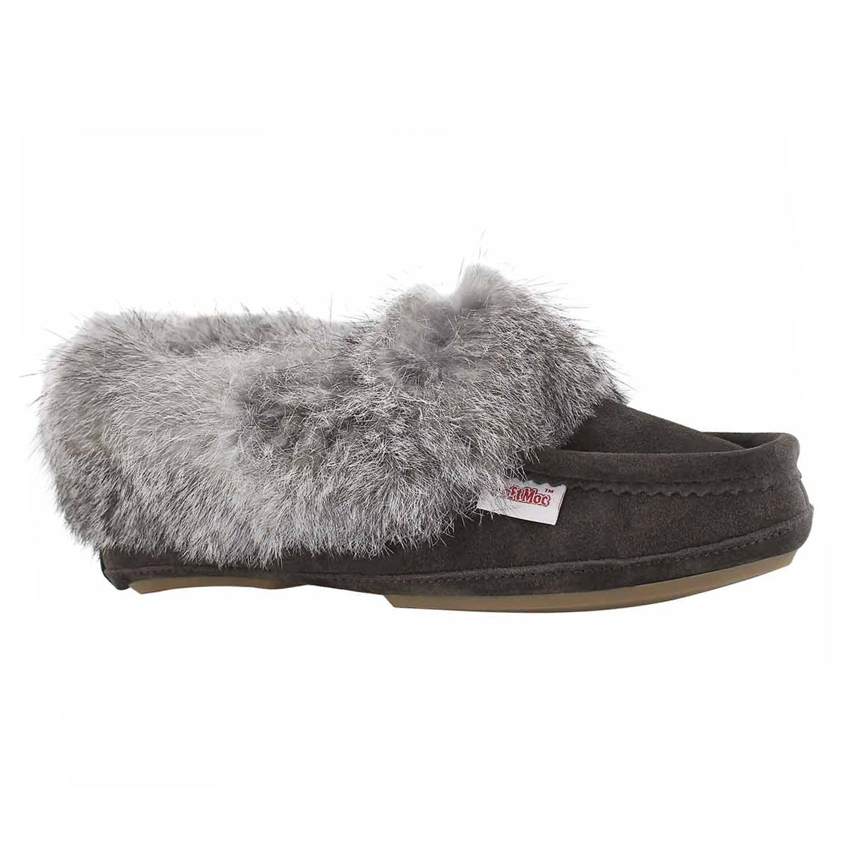 Lds Carrot 3 gry rabbit fur moccasin
