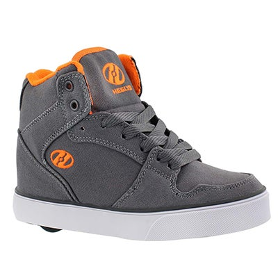 Heelys Boys' CART grey/orange skate sneakers