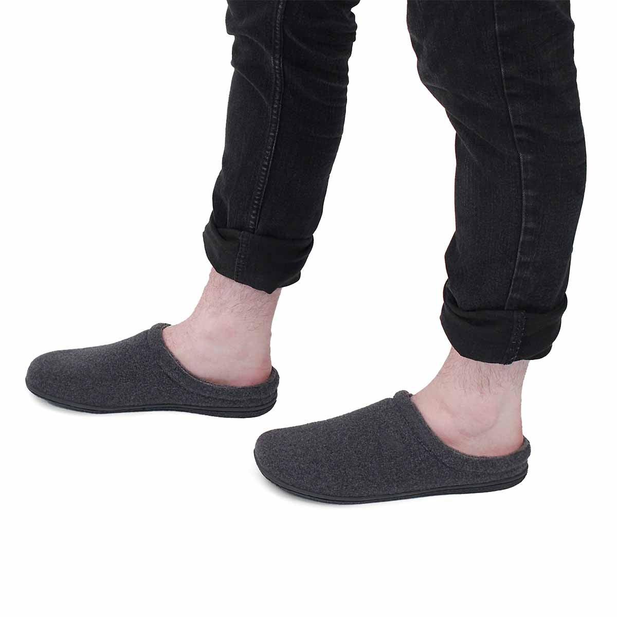 Mns Carver dark grey open back slipper