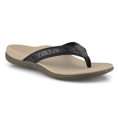 Lds Casandra black thong sandals