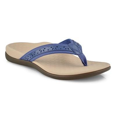 Lds Casandra indigo thong sandals