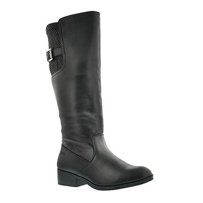 Lds Castor black wtpf riding boot