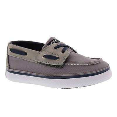 Inf Cruz Jr. grey/nvy boat shoe