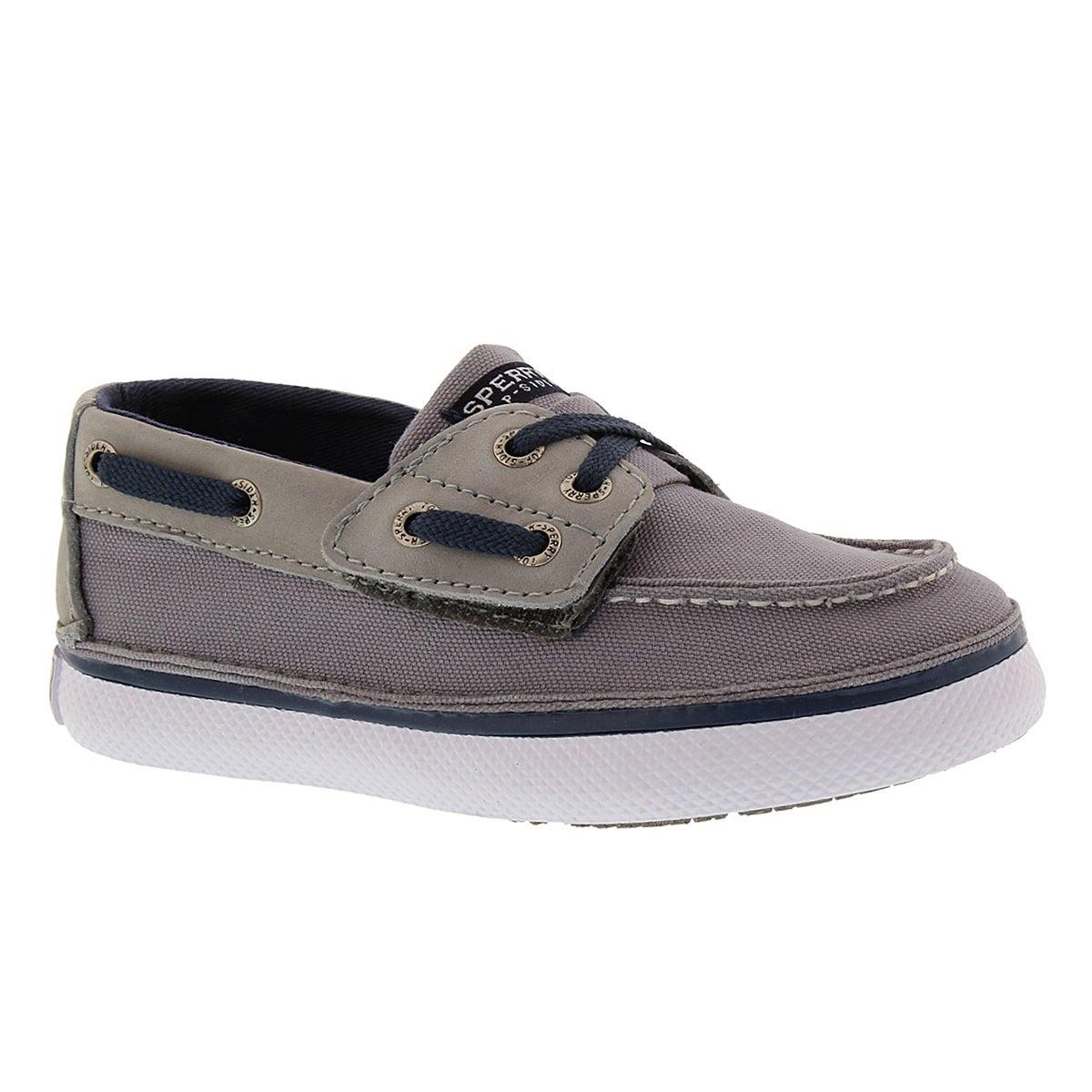 Chaussure bateau gris/mari CRUZ JR., béb