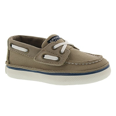 Sperry Infants' CRUZ  JR. khaki boat shoes