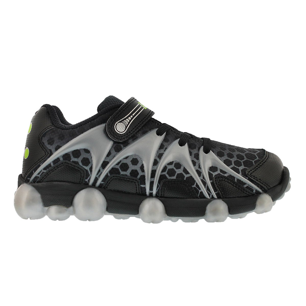 Bys Leepz blk/grey light up running shoe
