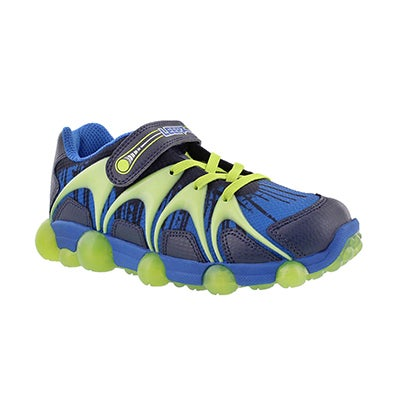 Stride Rite Boys' LEEPZ blue/lime light up running shoes
