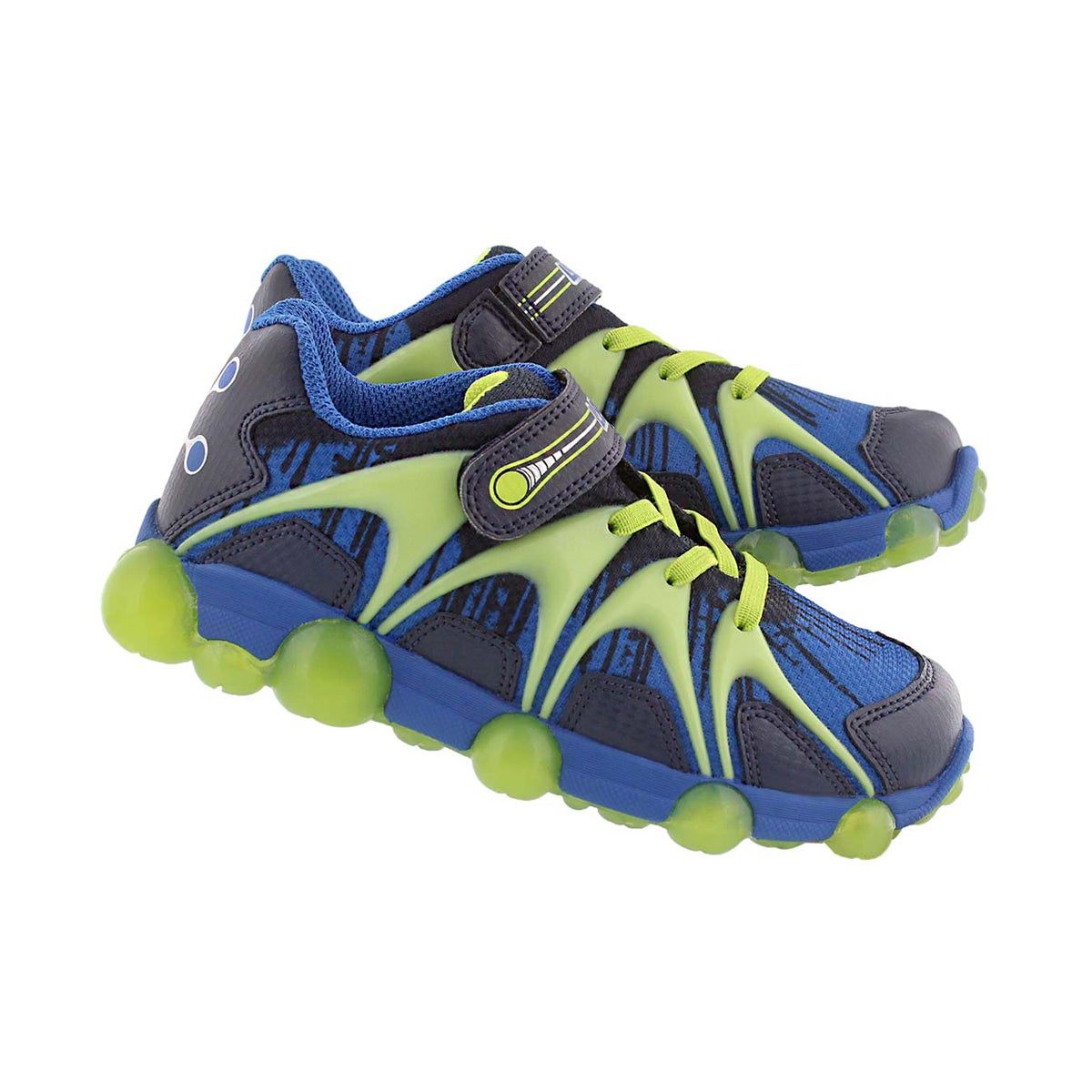 Bys Leepz blu/lime light up running shoe