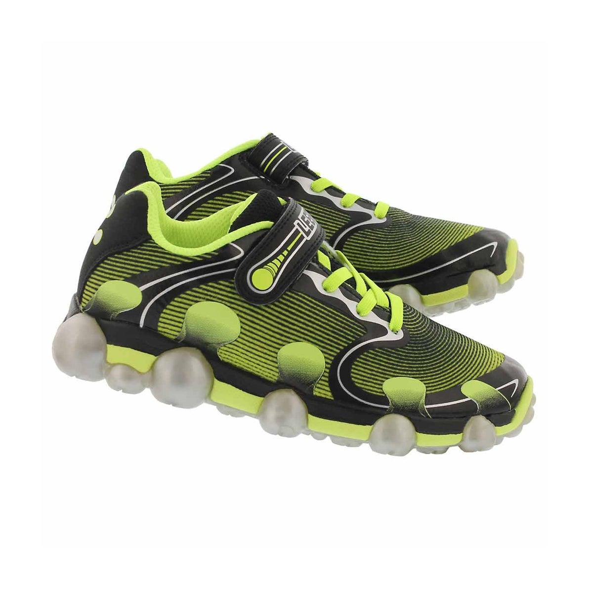 Bys Leepz 2.0 blk/ylw light up sneaker