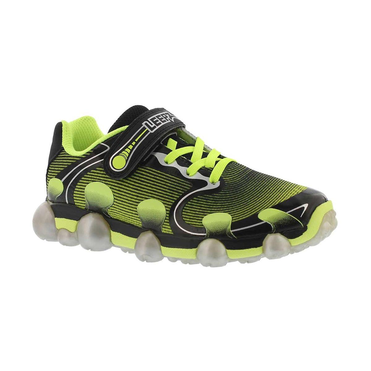 Boys' LEEPZ 2.0 black/yellow light up sneakers