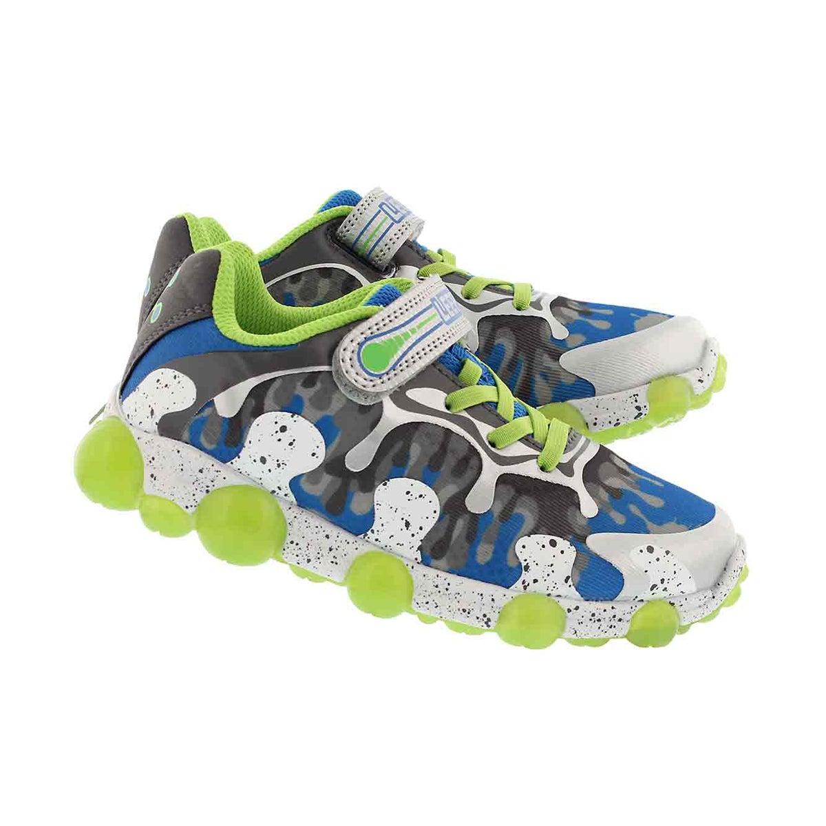 Bys Leepz 2.0 gry/grn light up sneaker