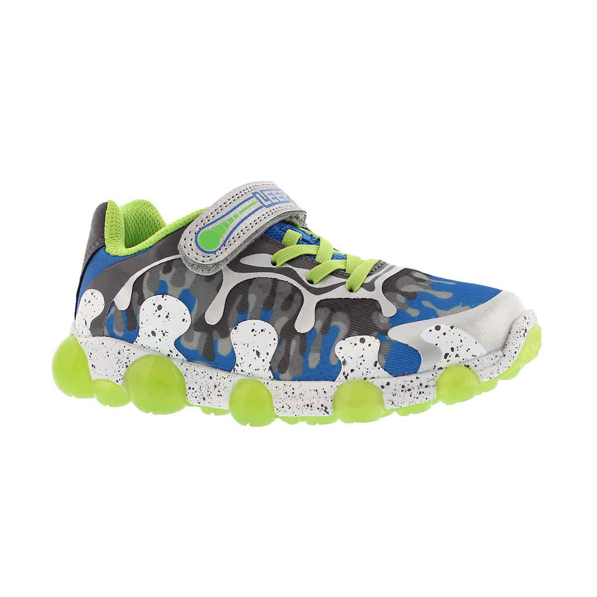Boys' LEEPZ 2.0 grey/green light up sneakers
