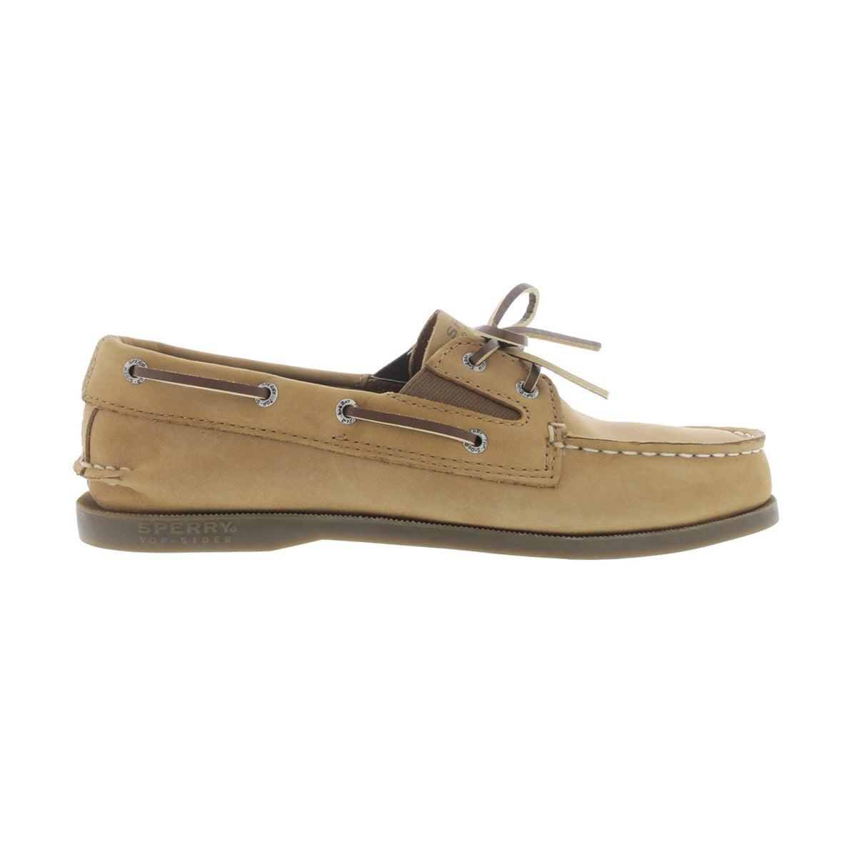 Bys A/O Slip On sahara lthr boat shoe