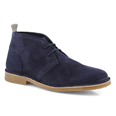 Lds Celia navy lace up chukka boot
