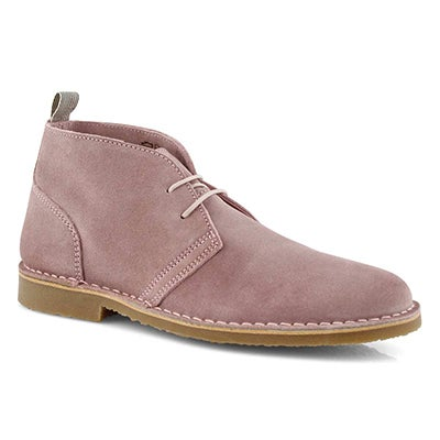 Lds Celia pink lace up chukka boot