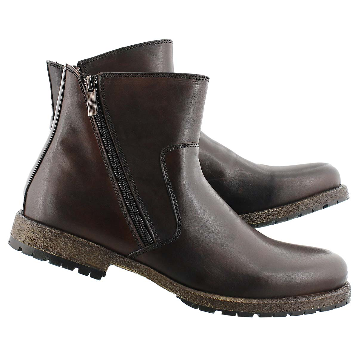 Mns Cesar cognac lthr casual ankle boot