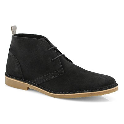 Mns Cesare black lace up chukka boot