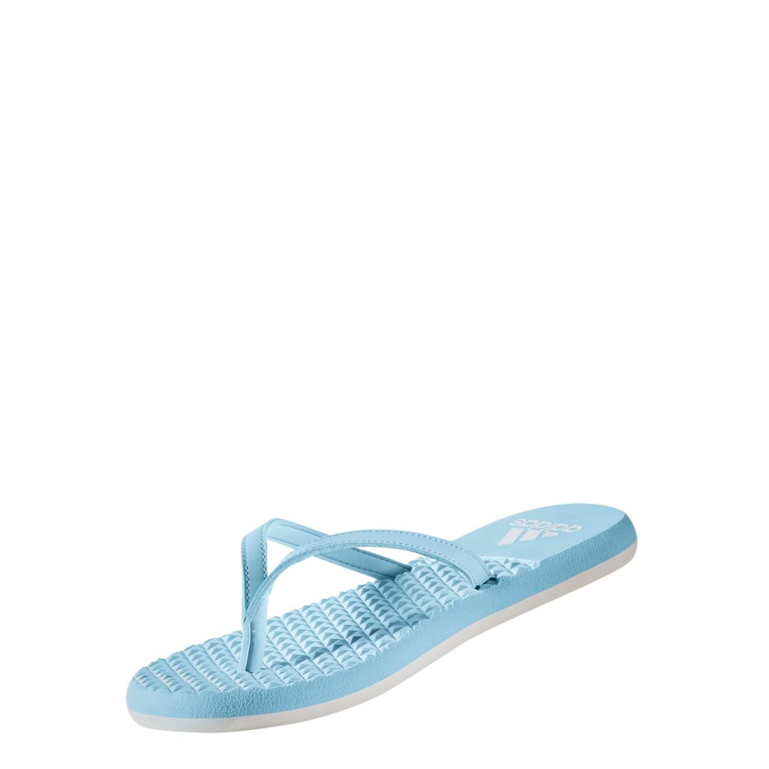 Lds Eezay Soft blu/wht thong sandal