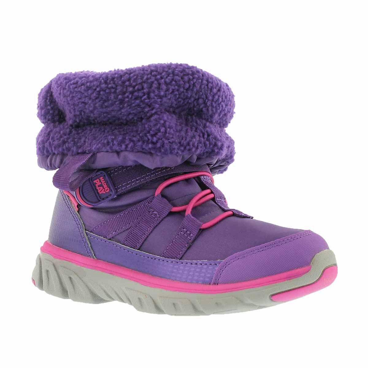 Girls' M2P SNEAKER BOOTS purple winter boots