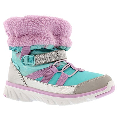 Stride Rite Girls' M2P SNEAKER BOOT FROZEN trq winter boots