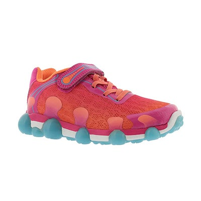 Grls Leepz 2.0 coral light up sneaker