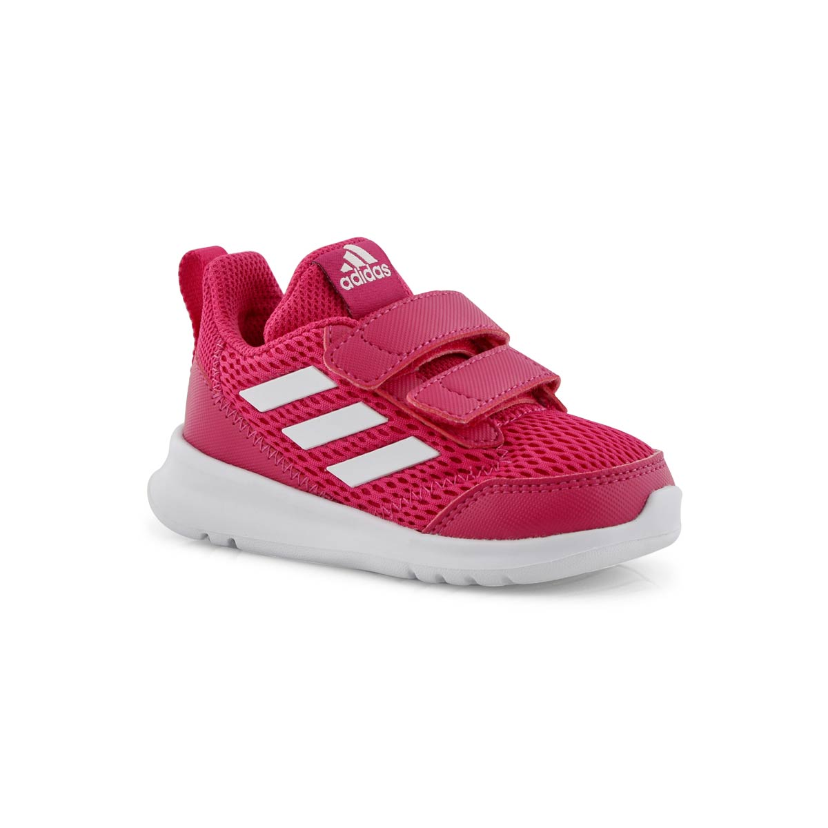 Adidas Kids Girls Alta Run Cf Infant Trainers Runners Padded Ankle Collar Hook Big Clearance Sale Shoes Children's