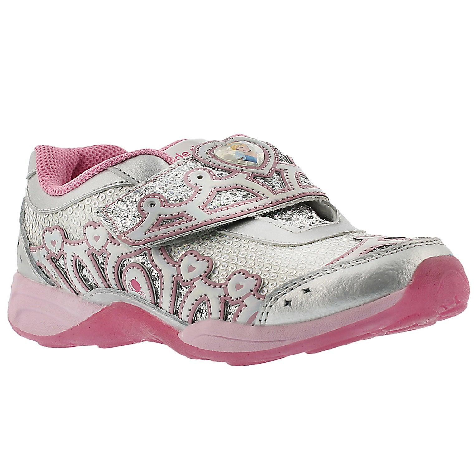 Grls Disney Cinderella silver sneaker