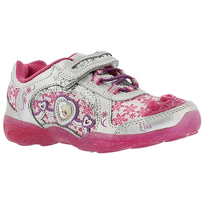 Stride Rite Girls' DISNEY FOREVER FRIENDS A/C berry sneakers