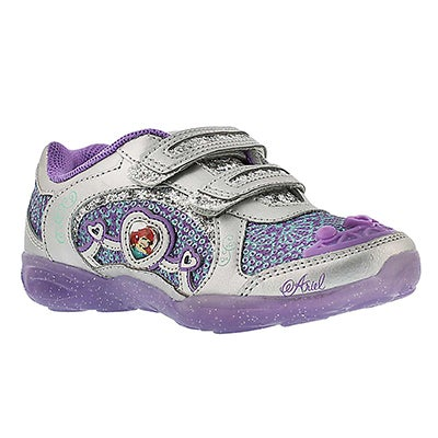 Stride Rite Girls' DISNEY UNDER THE SEA A/C purple sneakers