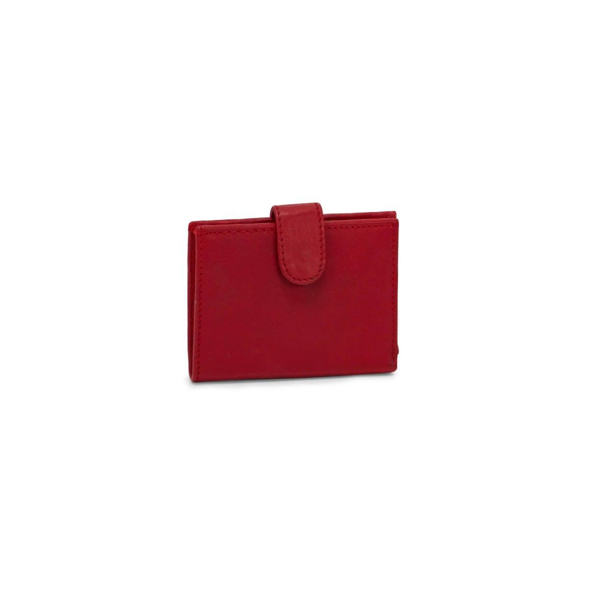 Mns red RFID cardholder wallet