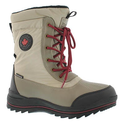Cougar Women's CHAMBLY oatmeal waterproof winter boots