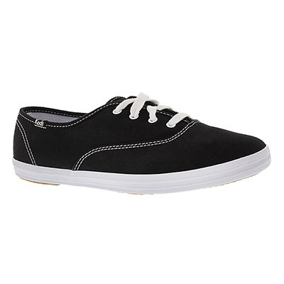 Keds Women's CHAMPION OXFORD black sneakers -Extra Wide