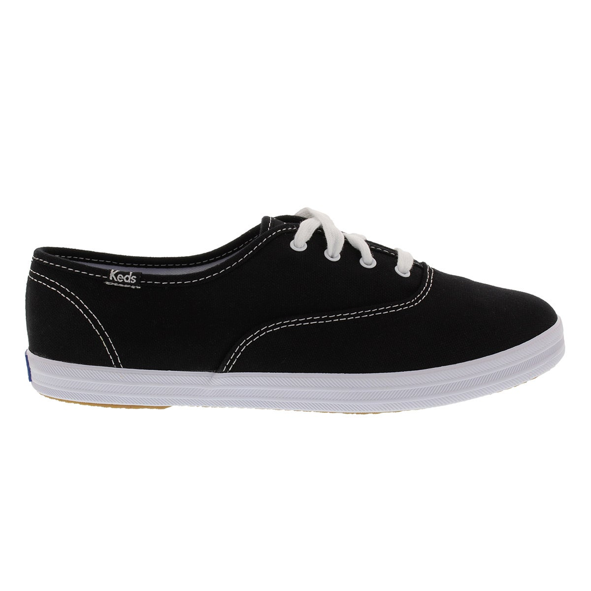 Lds Champion blk canvas sneaker - X Wide