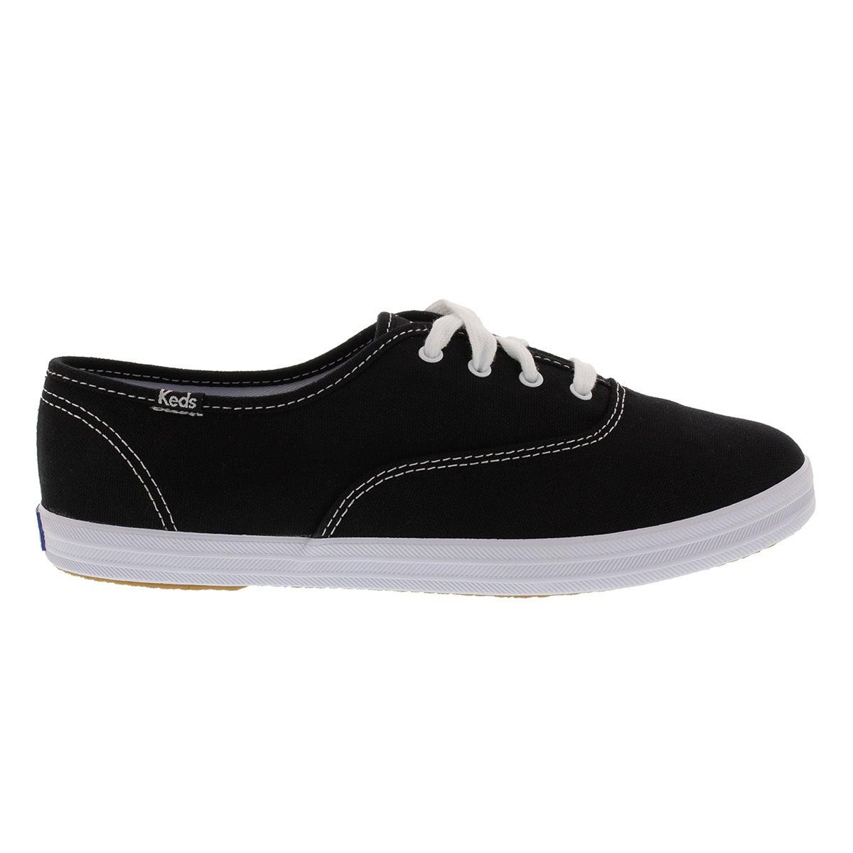 Lds Champion blk canvas sneaker - X Wide