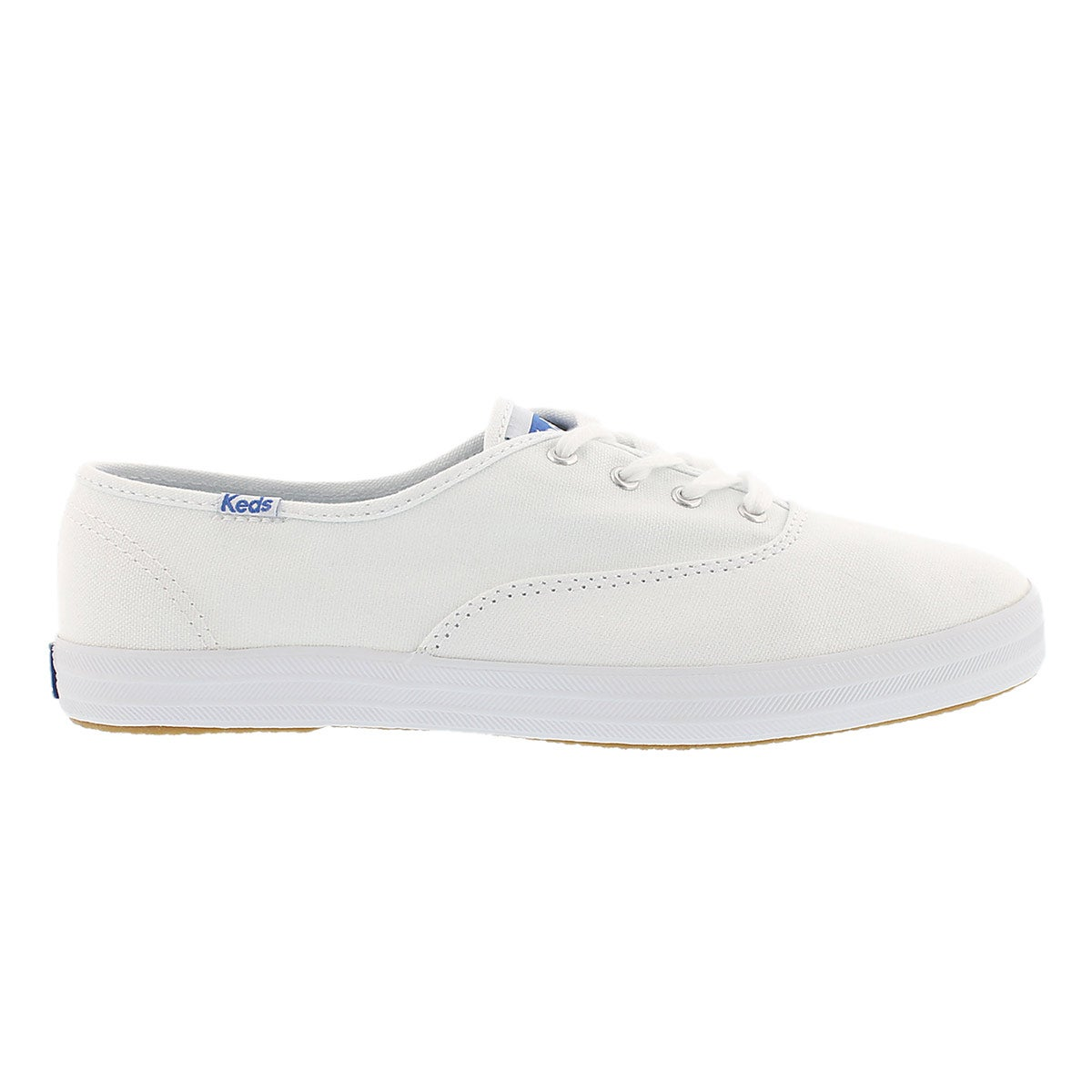 Lds Champion wht canvas sneaker- X Wide