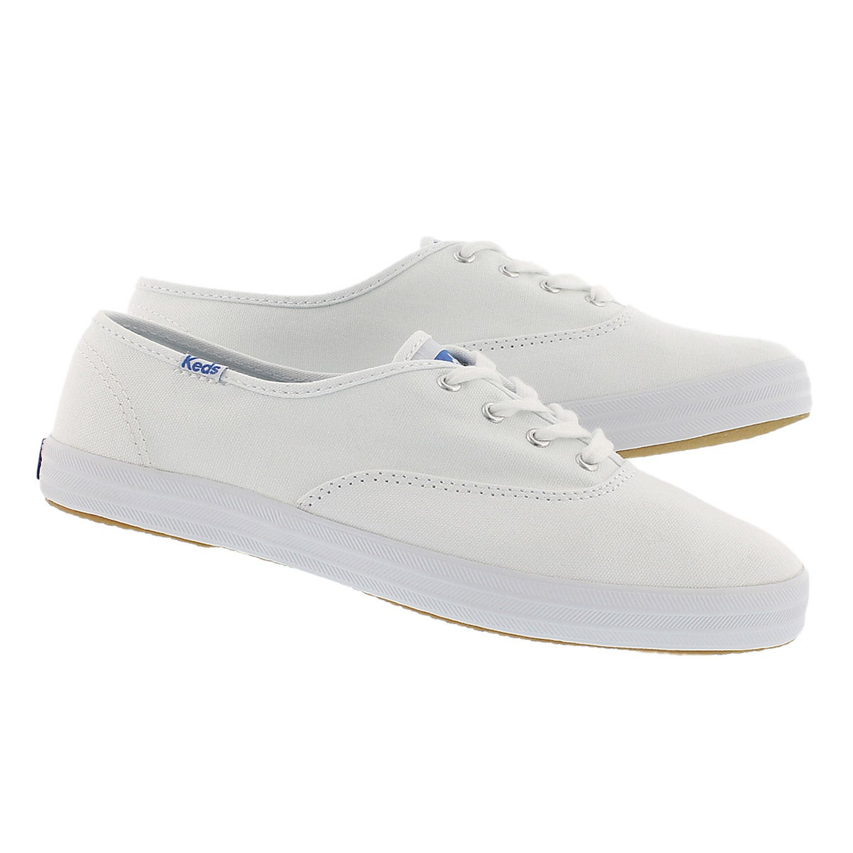 Lds Champion wht canvas sneaker- X Wide
